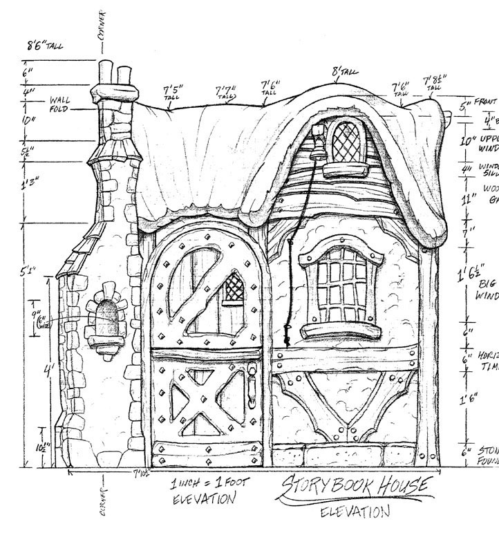Girl S Storybook House Storybook Elevation Storybook